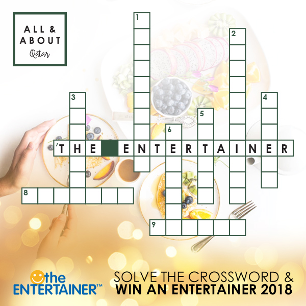 Solve the Crossword and Win The Entertainer 2018
