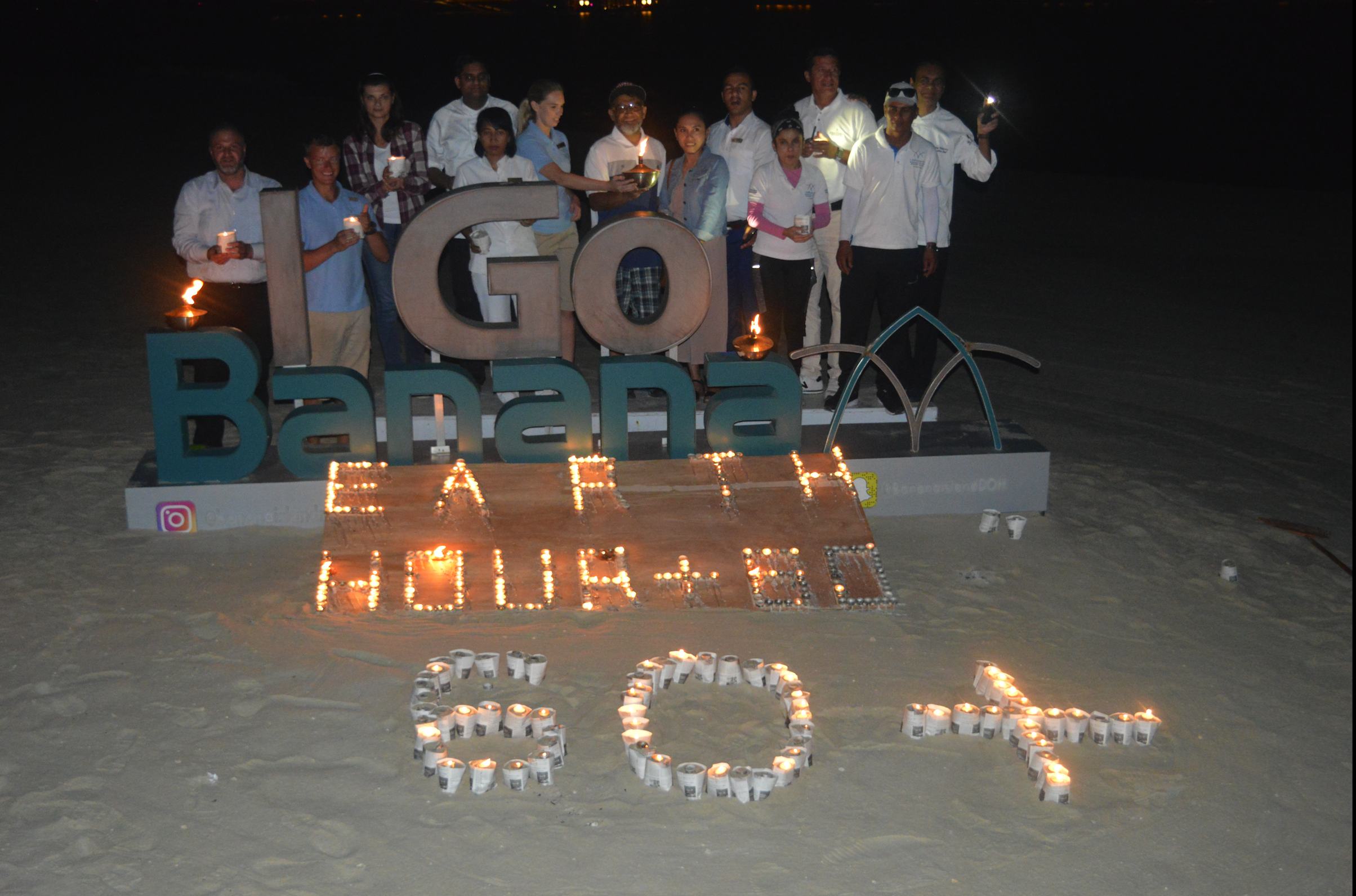 Banana Island Resort joins international community to mark Earth Hour