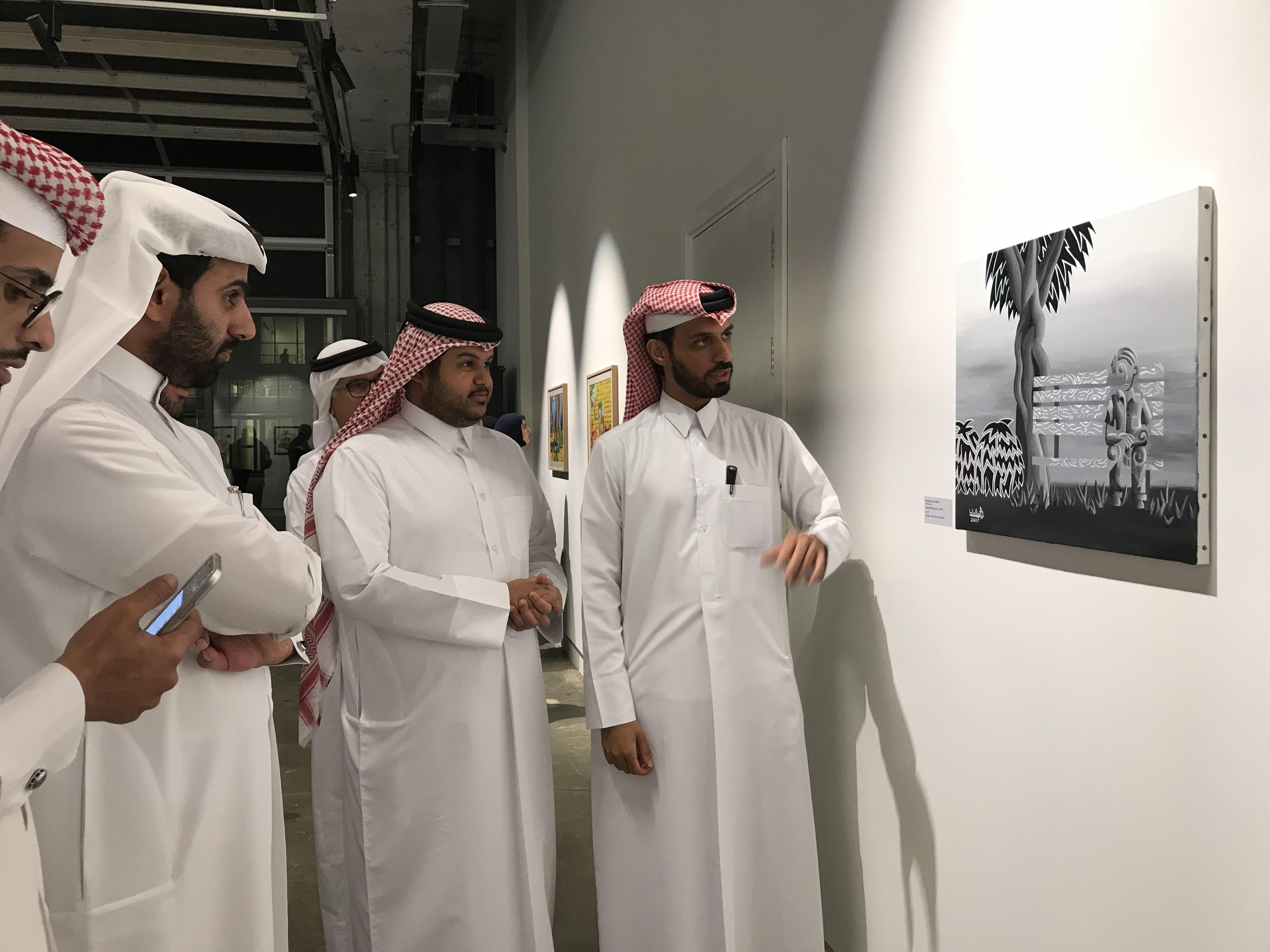 Qatari artists Abdulla Al Kuwari opens a solo exhibition at the Fire Station