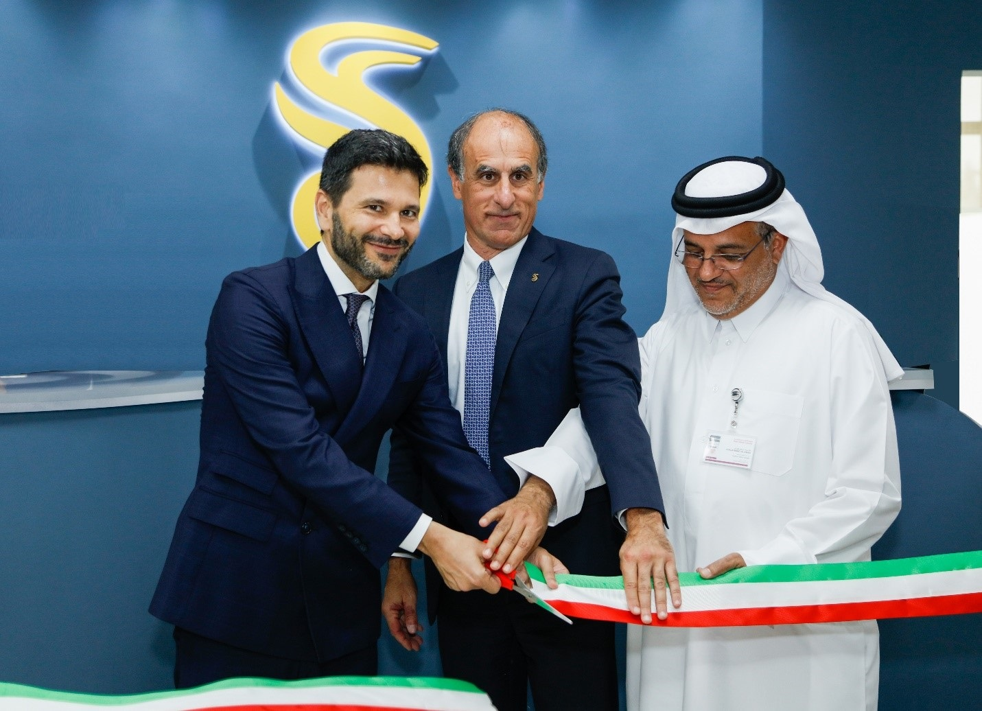 HE Ambassador of the Italian Republic to Qatar Pasquale Salzano and Ashghal's QSD Head inaugurated new ANAS Qatar Branch Office at Lusail City